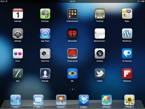 Aplicaciones en iPad 2