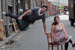 Jumping Street Photo Shoot With Models Jonny & Rhiannon Southbank London (nickbyng) Tags: road pink portrait urban woman black hot bus sexy london girl beautiful fashion sex canon outside jump jumping model chair alley couple eyelashes dress action young streetphotography floating levitation streetportrait tights together gymnastics shoreditch jonny lipgloss leap leaping beautifulgirls leggings longlegs beautifulgirl rhiannon longeyelashes sexygirl energetic 550d flowerydress funkyportrait canonefs55250mmf456is