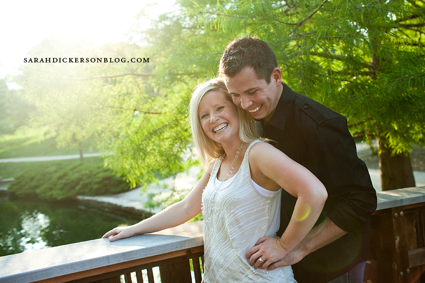 Loose Park Kansas City engagement session