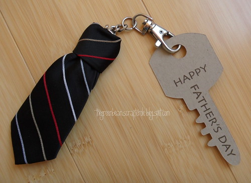 Tie Key Ring - Greenbean's Crafterole