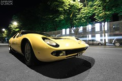 Lamborghini Miura S (U-Jack) Tags: auto paris art car night jaune hotel marcel automobile shot nightshot sale auction champs elyses s voiture collection 400 yelow avenue lamborghini montaigne vente dassault miura enchres artcurial p400 curial worldcars 152950 06122011