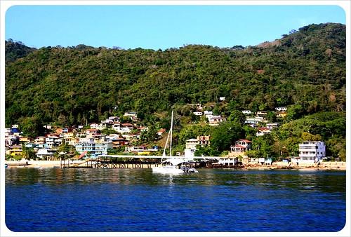 arrival on taboga island