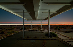 CA 58 (Noel Kerns) Tags: california abandoned station night force air north gas edwards base archshot