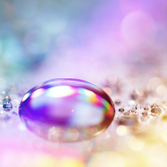 ~ droplet dream ~ (~ Pixel Passion ~) Tags: light stilllife macro reflection nature wet water colors closeup canon photography eos mirror drops rainbow colorful colours silent object dream drop photograph silence dreamy colourful dreamlike