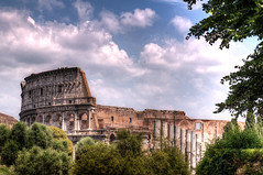 Colosseum (Mikenessmonster) Tags: italy rome nikon roman forum wide colosseum coliseum hdr 1224 gladiator d90