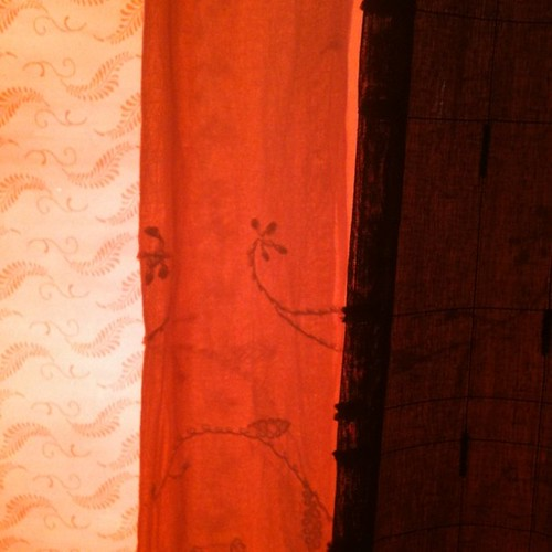 Orange Glow Window Treatment