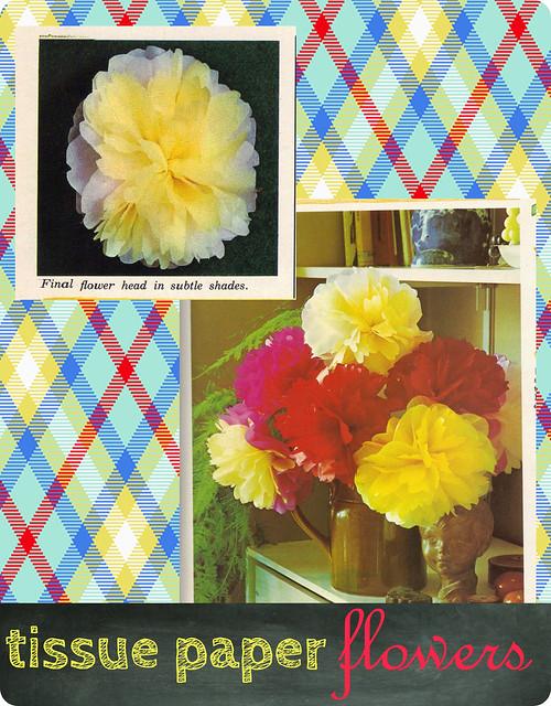 vintage tissue paper flowers