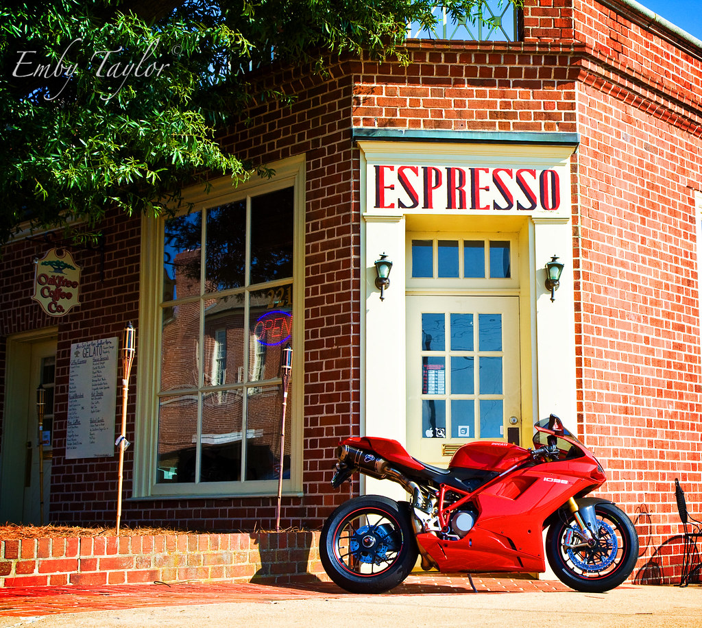 OakHouse Coffee Co Kannapolis NC Ducati 1098S US Desmo