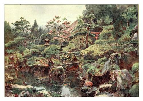009-Jardin de agua y rocas en Hakone-Japanese gardens 1912-Walter Tyndale