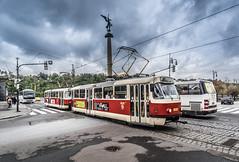 Bim in Prag (wigerl - herwig ster) Tags: strom brcke fujixt1 european verkehr city tschechien light foto bim trafic 2016 europa prag stadt fuji licht europe bewlkt strasenbahn bewlkt brcke straenbahn