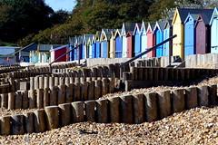 Calshot Beach (Hythe Eye) Tags: beachhuts breakwaters beach stones calshot hampshire