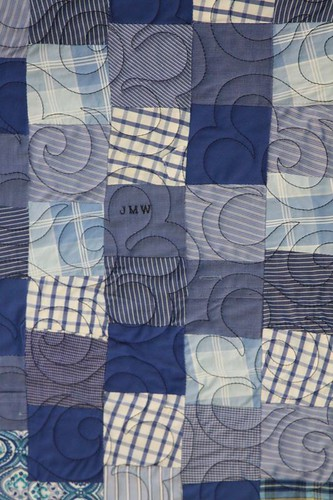 recycled fabric quilt, memory quilt, recycled clothing quilt, mamaka mills 6