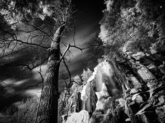 Winter IR Waterfall (McSnowHammer) Tags: 2 bw silver ir waterfall infrared pro hoya r72 vattenfall halleberg brudsljan efex skktefallet