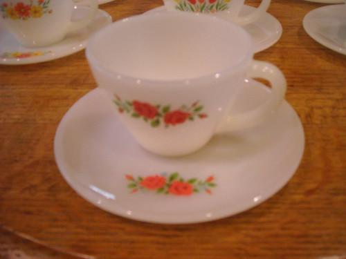 Fire-King Tea Cup + Saucer
