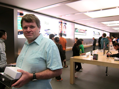 Kevin in the Apple Store