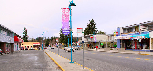 parking and street in Sechelt