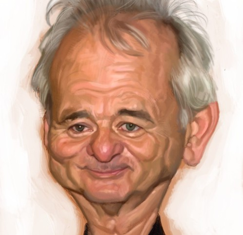 digital caricature of Bill Murray - 2a