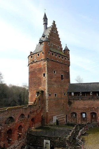 castle tower and ruins