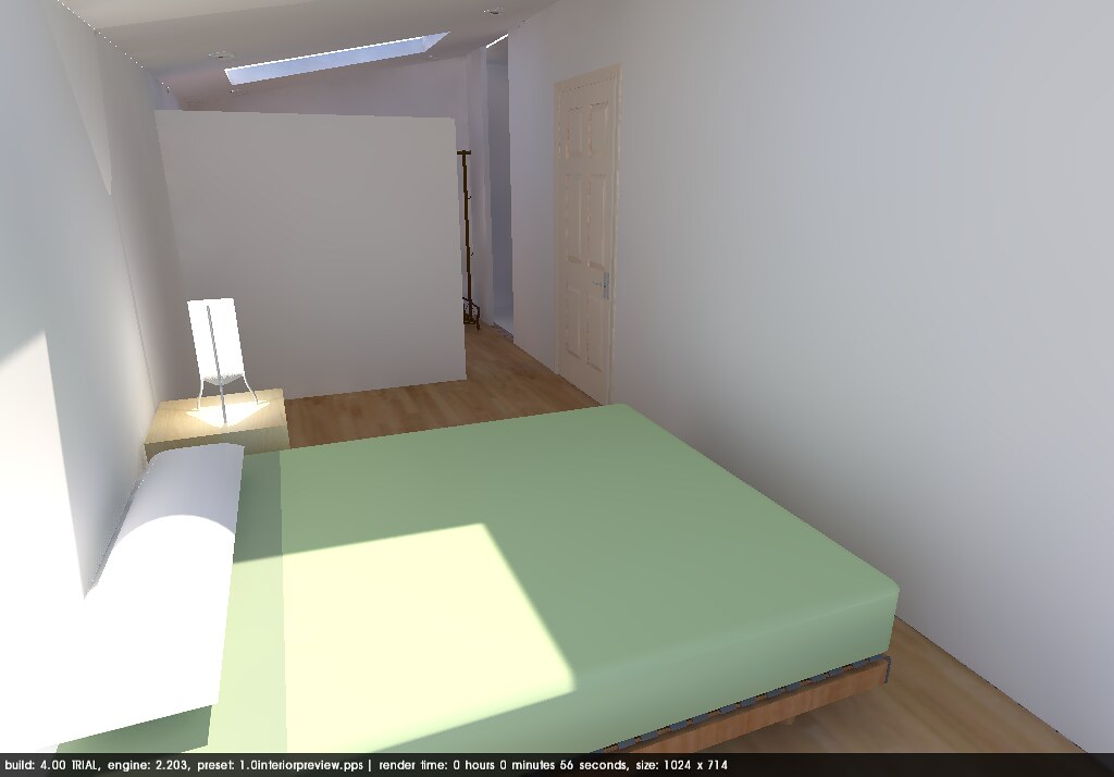 3D Bedroom with Partition