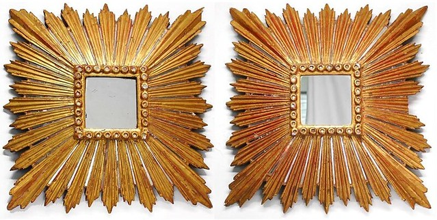 spanish colonial gilt sunburst mirrors