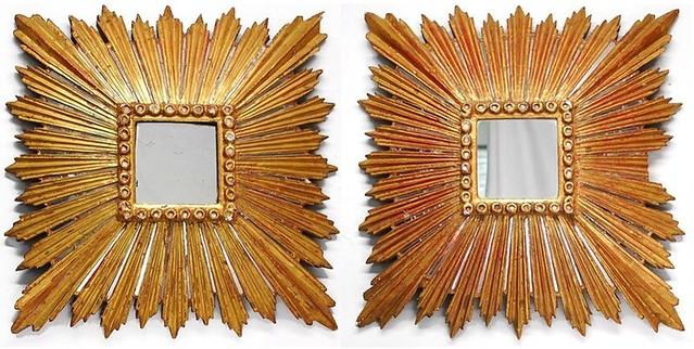 spanish colonial gilt sunburst mirrors