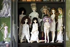 Scary shelf #2 (alington) Tags: sky tan naomi pjs bjd briana resin abjd lottie mintie segi dollheart nightie whiteskin peakswoods wakeupcue ooakoutfit jennygrey valzeitler yeruthesoul fairyofbugsbody