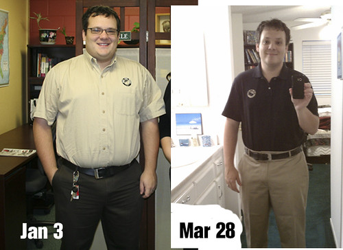 I've lost 45 pounds in the last three months.