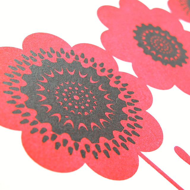 Red Anemone Gocco Print 1