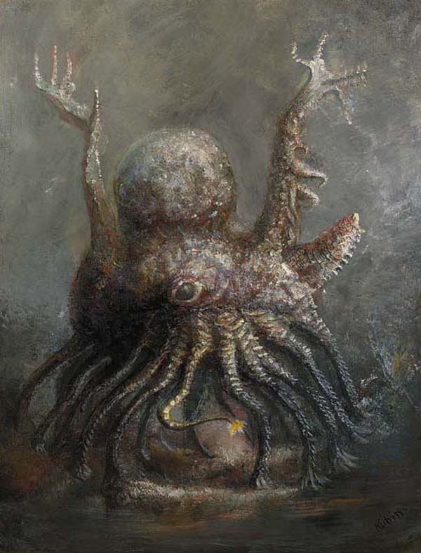 Alfred Kubin - Vielarmiges Tier