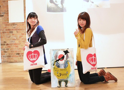 Toko & Fumiko With QOS Loves JAPAN Tote #prayforjapan