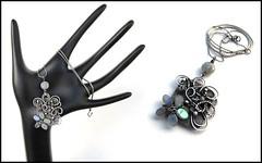 labradorite blossom necklace