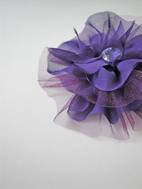 çiçekli toka broş 2