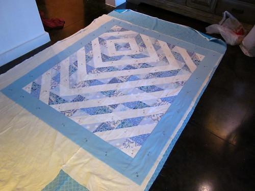 blue memorial quilt