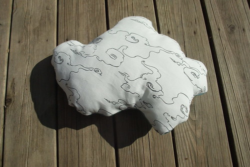 reverse cloud pillow