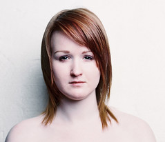 Beth (Kirsty Langley Cochrane) Tags: red white hair ginger skin pale typology backround