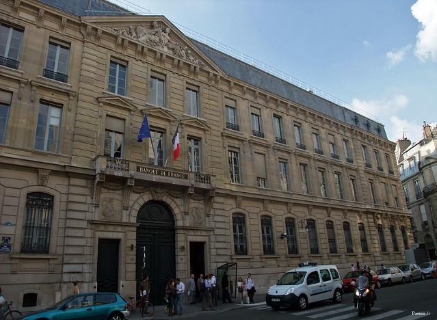 Façade de la Banque de France à Paris