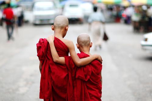 Yangon (Burma) - Buddha love by streetcorner