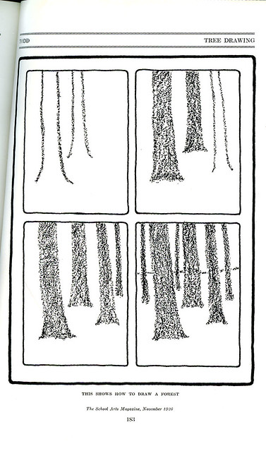 how to draw a forest_tatteredandlost