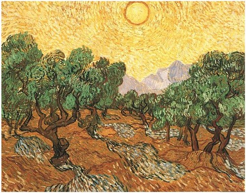 Olive-Trees-with-Yellow-Sky-and-Sun