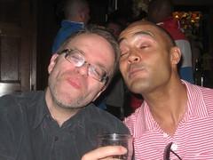 Chris and John Stone (hatapota) Tags: leavingdrinks chrispaton craichouse ncvoit