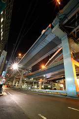 Tanimachi Junction - 04 (Kabacchi) Tags: night tokyo highway  nightview expressway  interchange      jct tanimachijunction ~tanimachijunction~