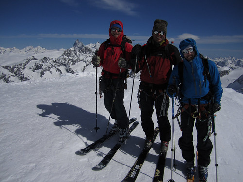 Erik, Roar, Alastair, Pigne D Arolla Summit