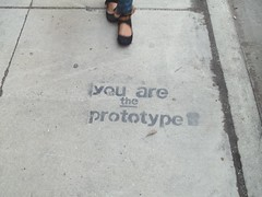 (VVVvoy) Tags: chicago stencil you sidewalk prototype
