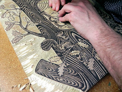 Tugboat Printshop // The Decemberists (Tugboat Printshop) Tags: thedecemberists printmaking blockprint woodcut woodblock reliefprint tugboatprintshop traditionalprintmaking woodcutposter woodcutcommission