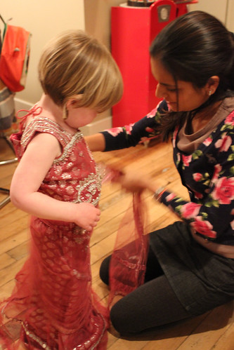 pooja helping dottie with her lehanga