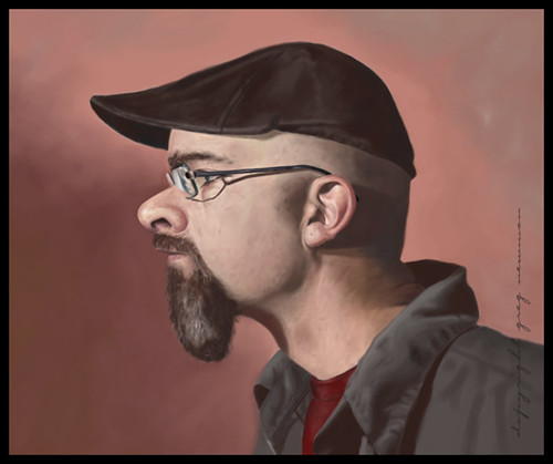 Self Portrait Caricature Painting