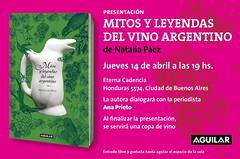Presentación del libro «Mitos y leyendas del vino argentino»