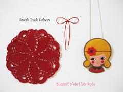 Sneak Peek Girls (hanaletters) Tags: japanese dolls redribbon kawaii cutegirl feltpin crochetedflower hanaletters