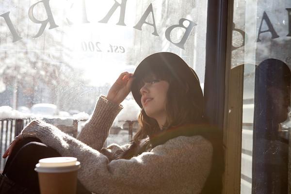 coffee, hat, sunshine (refinery 29)