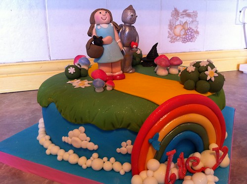 Wizard of Oz cake. Dorothy and Tinman